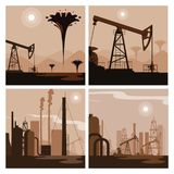 Oil industry group scenes. Vector illustration design vector illustration