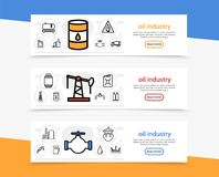 Oil Industry Horizontal Banners Royalty Free Stock Photos