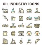 Oil industry icon Royalty Free Stock Images