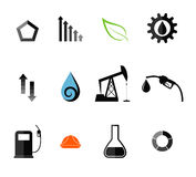 Oil Industry. Icon Set Stock Images