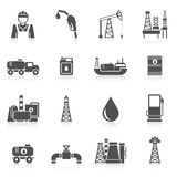 Oil Industry Icons Stock Photos