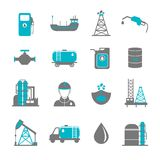 Oil Industry Icons Royalty Free Stock Photo