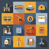 Oil Industry Icons Flat Royalty Free Stock Photography