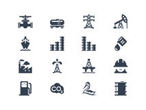 Oil industry icons. Isolated on white royalty free illustration