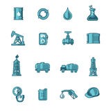 Oil Industry Icons Set Royalty Free Stock Photography