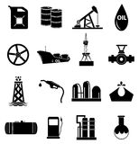 Oil industry icons set Royalty Free Stock Photos