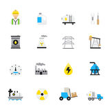 Oil and Industry Icons. Set of Business and Finance Vector Illustration Color Icons Flat Style. This is graphics vector Illustration. Ready to use for websites Royalty Free Stock Photography