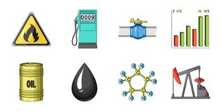 Oil industry icons in set collection for design. Equipment and oil production vector symbol stock web illustration. Oil industry icons in set collection for vector illustration
