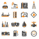 Oil industry Icons Set Stock Photography