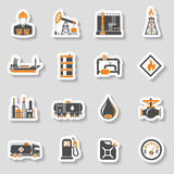 Oil industry Icons Set Stock Images