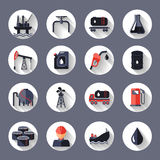 Oil industry icons set Royalty Free Stock Images
