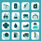 Oil industry icons set Royalty Free Stock Photo