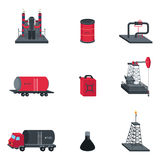 Oil Industry Icons. A vector illustration of oil industry icon sets stock illustration