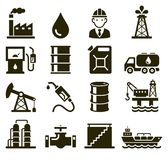 Oil industry icons. Vector. Illustrations stock illustration