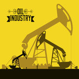 Oil industry. Illustration of the oil industry, oil pump, vector illustration royalty free illustration