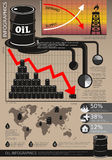 Oil Industry Infographic Stock Images