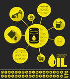 Oil Industry Infographic Template Stock Images