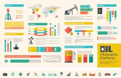 Oil Industry Infographic Template Stock Photos