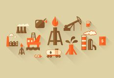 Oil Industry Infographic Template Royalty Free Stock Images