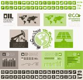 Oil Industry Infographic Template Royalty Free Stock Image