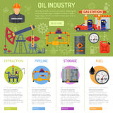 Oil industry Infographics Royalty Free Stock Photos