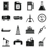 Oil industry items icons set, simple style Stock Photo