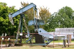 Oil industry little equipment installation Stock Photos