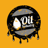 Oil industry. Over orange background illustration stock illustration