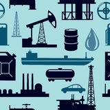 Oil industry pattern. Seamless pattern with industrial objects stock illustration