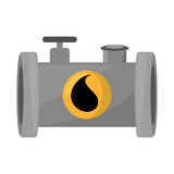 Oil industry pipeline isolated icon. Vector illustration design vector illustration
