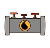 Oil industry pipeline isolated icon. Vector illustration design stock illustration