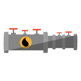 Oil industry pipeline isolated icon Royalty Free Stock Photography