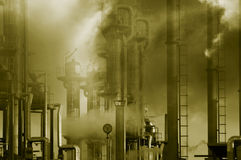 Oil industry and pollution Royalty Free Stock Images