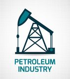 Oil industry poster Royalty Free Stock Photos