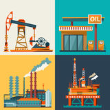 Oil industry poster Stock Image