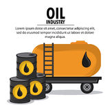 Oil industry production petroleum icon. Barrel container drop oil industry production petroleum icon, vector illustration royalty free illustration