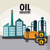 Oil industry production petroleum icon Royalty Free Stock Image