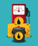 Oil industry production petroleum icon. Barrel drop dispenser oil industry production petroleum icon, vector illustration stock illustration