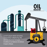 Oil industry production petroleum icon. Barrel drop oil pump industry production petroleum icon, vector illustration Royalty Free Stock Image