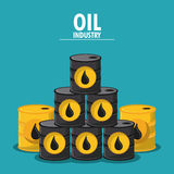 Oil industry production petroleum icon. Barrel drop oil industry production petroleum icon, Vector illustration royalty free illustration
