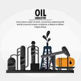 Oil industry production petroleum icon. Container drop oil pump industry production petroleum icon, Vector illustration Royalty Free Stock Image
