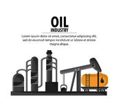 Oil industry production petroleum icon. Container drop oil pump industry production petroleum icon, Vector illustration Royalty Free Stock Photo