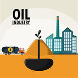 Oil industry production petroleum icon. Earth explossion truck oil industry production petroleum icon, Vector illustration stock illustration