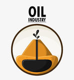 Oil industry production petroleum icon. Earth seal stamp oil industry production petroleum icon, vector illustration royalty free illustration