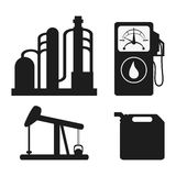 Oil industry production petroleum icon. Oil pump dispenser industry production petroleum icon. Silhouette and isolated illustration royalty free illustration