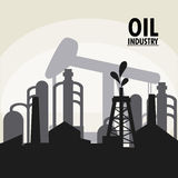 Oil industry production petroleum icon. Oil pump tower oil industry production petroleum icon. Silhouette and isolated illustration vector illustration
