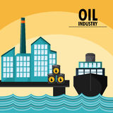 Oil industry production petroleum icon. Sea barrel drop oil industry production petroleum icon, vector illustration Royalty Free Stock Photography