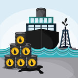 Oil industry production petroleum icon Stock Images
