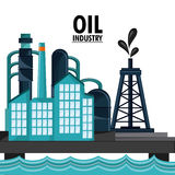 Oil industry production petroleum icon. Sea oil industry production petroleum icon, vector illustration stock illustration