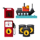 Oil industry production petroleum icon. Ship dispenser barrel drop oil industry production petroleum icon, vector illustration royalty free illustration